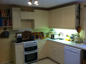 HVLP Spraying- Kitchen units resprayed